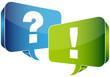 Speech Bubbles Question & Answer Blue/Green