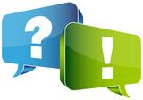 Speech Bubbles Question Blue & Answer Green