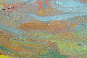 MULTICOLOR PAINTED CANVAS FOR TEXTURED BACKGROUND
