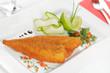 Gebackenes Schollenfilet mit Limette und Zucchini