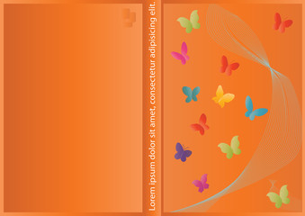 Vector abstract Cover design with butterfly