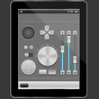 Audio elements design and tablet pc,vector