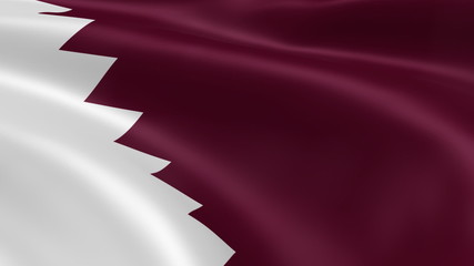 Qatari flag in the wind