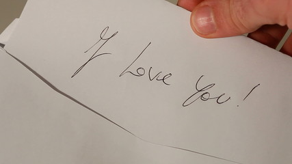 Happy Valentine's Day - Envelope with love message