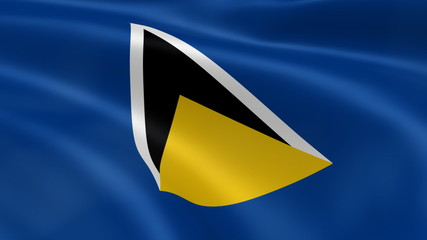 Saint Lucian flag in the wind