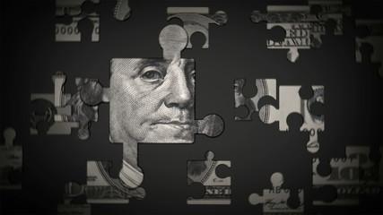 U.S. $100 Dollar Bill Puzzle HD 1080