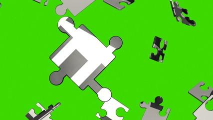 news Bill Puzzle (green screen, HD 1080, 30fps, 3d render)