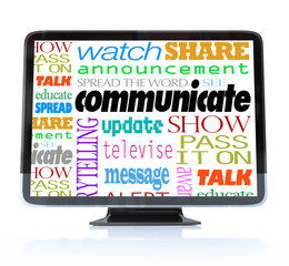 Communicate Words on High Definition Television HDTV