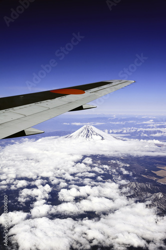 Mt. Fuji bird's eye view in Japan