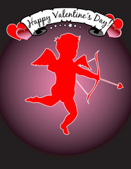 Happy Valentine's Day! With Cupid! eps 8 / clip art / jpeg