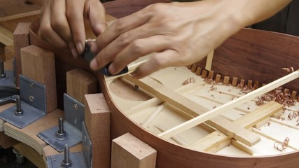 making guitar,shape side