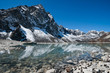 Sacred Lake and mountain near Gokyo in Himalayas