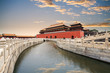 the forbidden city with gold water bridge