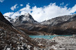 Sacred Lake near Gokyo in Himalayas