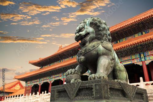 Leinwandbild Motiv the forbidden city in beijing