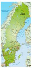 Landkarte von Schweden