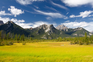 Beautiful Canadian Landscape with Rocky Mountains