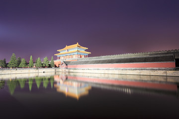 the forbidden city at night