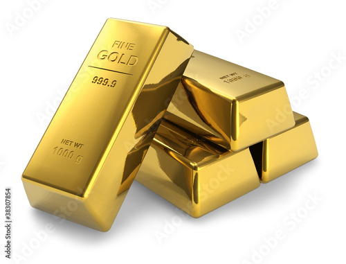canvas print picture Gold bars