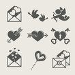 saint valentine's day set icon vector illustration