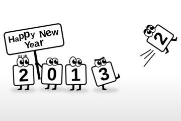 Happy New Year 2013 Toon