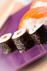 suhi rolls closeup