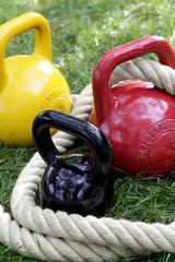 Gewichte und Seil