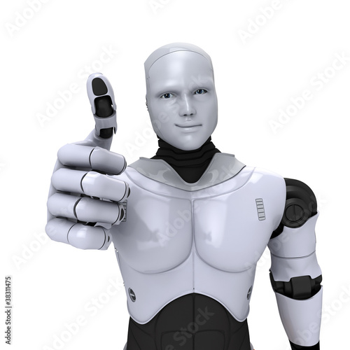 Android Robot with thumb up