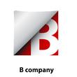 Logo label letter B # Vector
