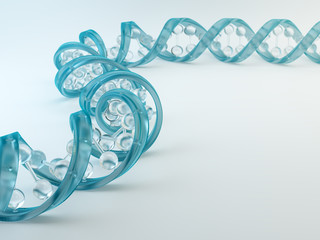 A glass DNA strand