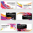 Rainbow circle business card templates