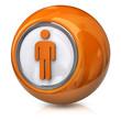Orange male icon