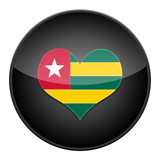 Heart for Togo icon with flag