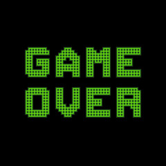 Pixel Game Over Message