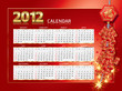 2012 calendar and firecrackers.