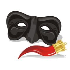 maschera e cornetto
