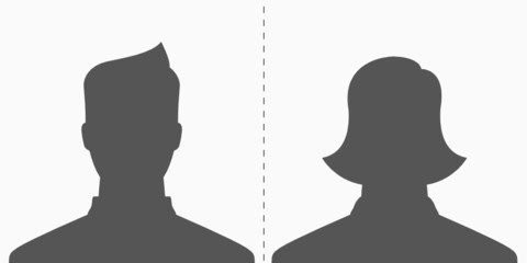 Male & Female - default profile picture