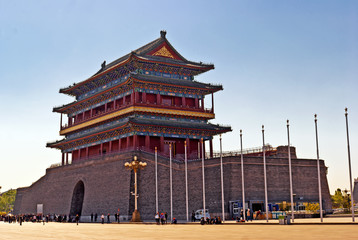 The Zhengyangmen Gatehouse. Beijing, China