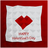 Valentine's Day folded paper