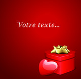 Carte message d'amour Saint Valentin