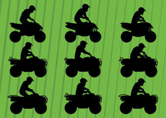 All terrain vehicle quad motorbikes illustration