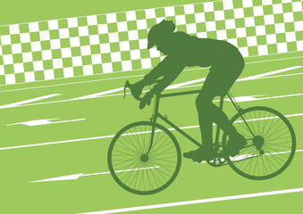 Sport road bike rider bicycle silhouette