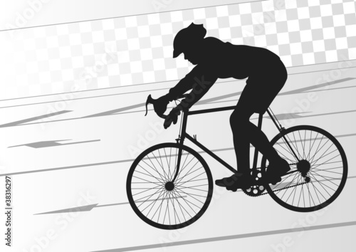 Sport road bike rider bicycle silhouette