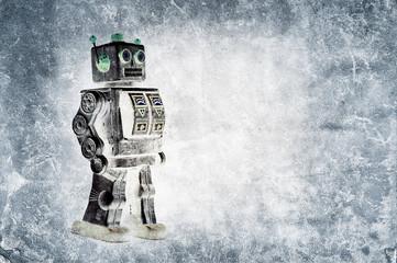 grunge toy robot
