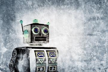 grunge robot print