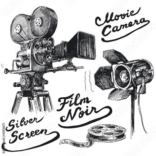 movie camera - 38316671
