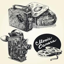 main film vintage caméras-originale dessinée collection