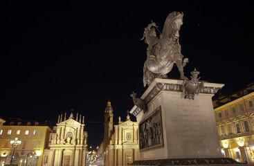 Piazza San Carlo di notte, Torino