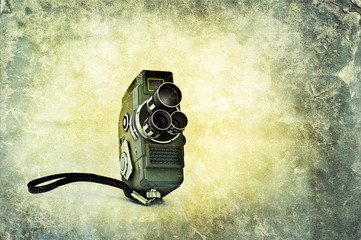 vintage movie film camera