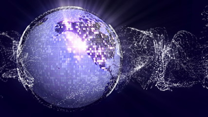 World DiscoBall in Particle - HD1080